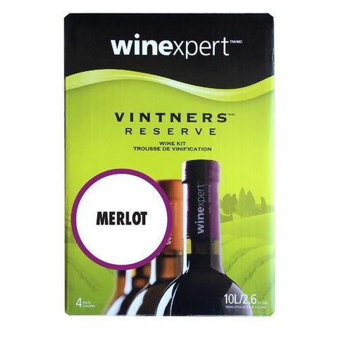 Winexpert Vintner's Reserve Merlot Wine Recipe 6 gallon Kit - Homebrew Supplies in Vermont
