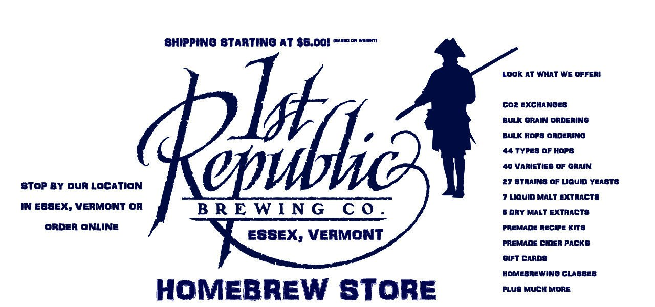 Vermont Homebrew Shop, Homebrewing Vermont