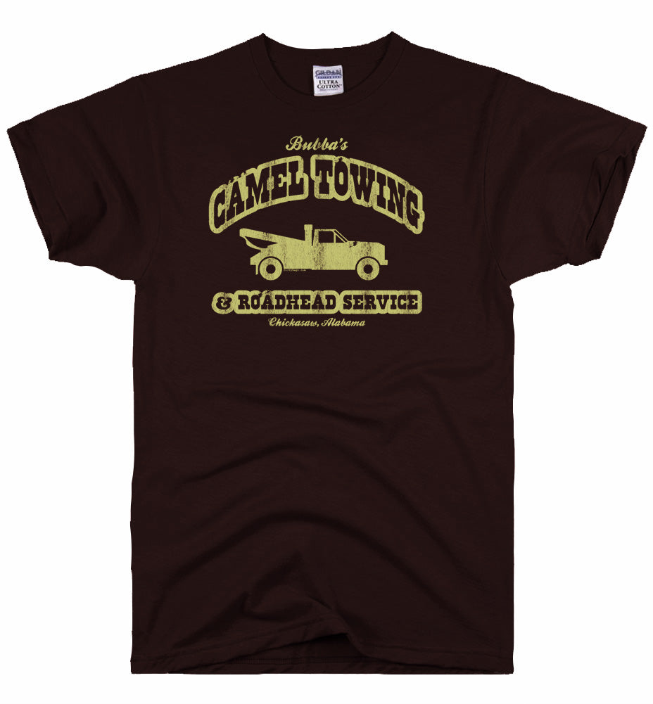 camel towing brown tee