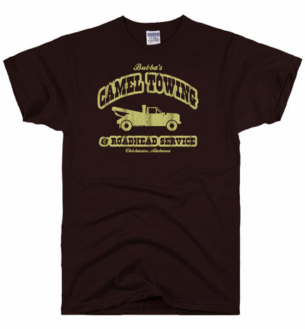 camel towing grey tee