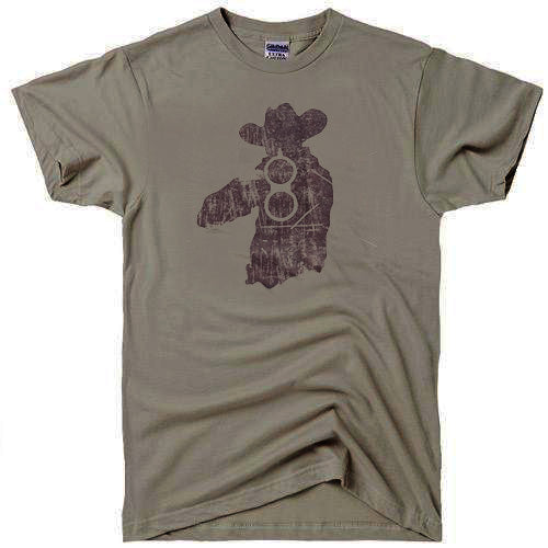 cowboy last shot brown t-shirt