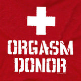 orgasm donor tee