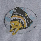 shark eating kitten tee
