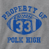 property of polk high grey tee