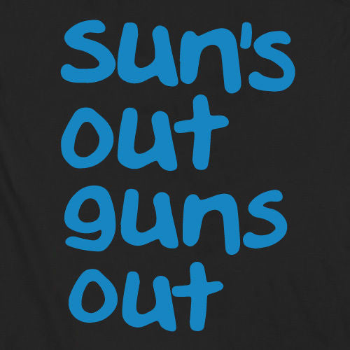 black suns out guns out tank top