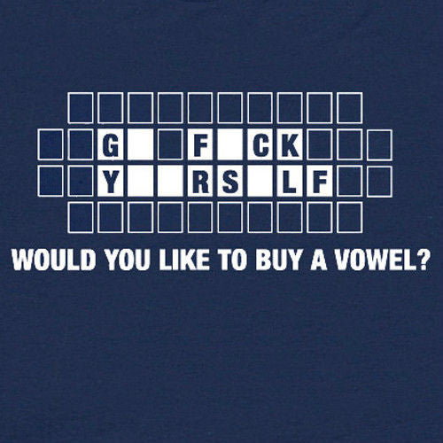 buy a vowel tee