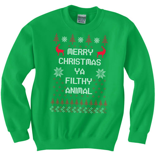 Merry Christmas Ya Flithy Animal Sweater