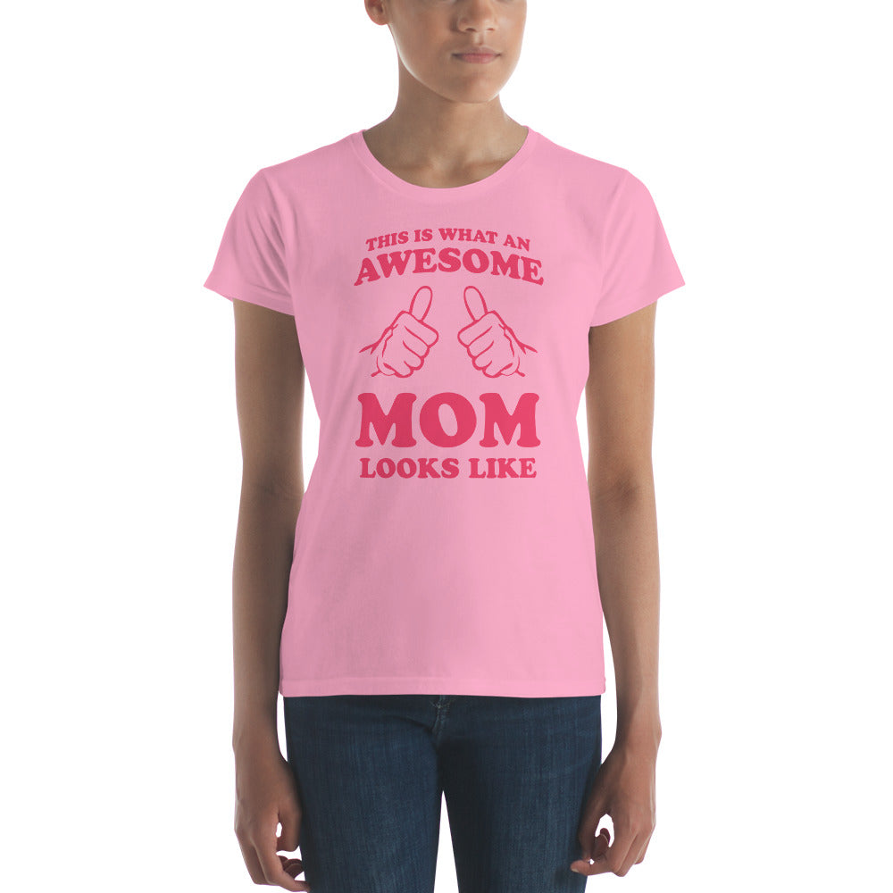 women's awesome mom tee