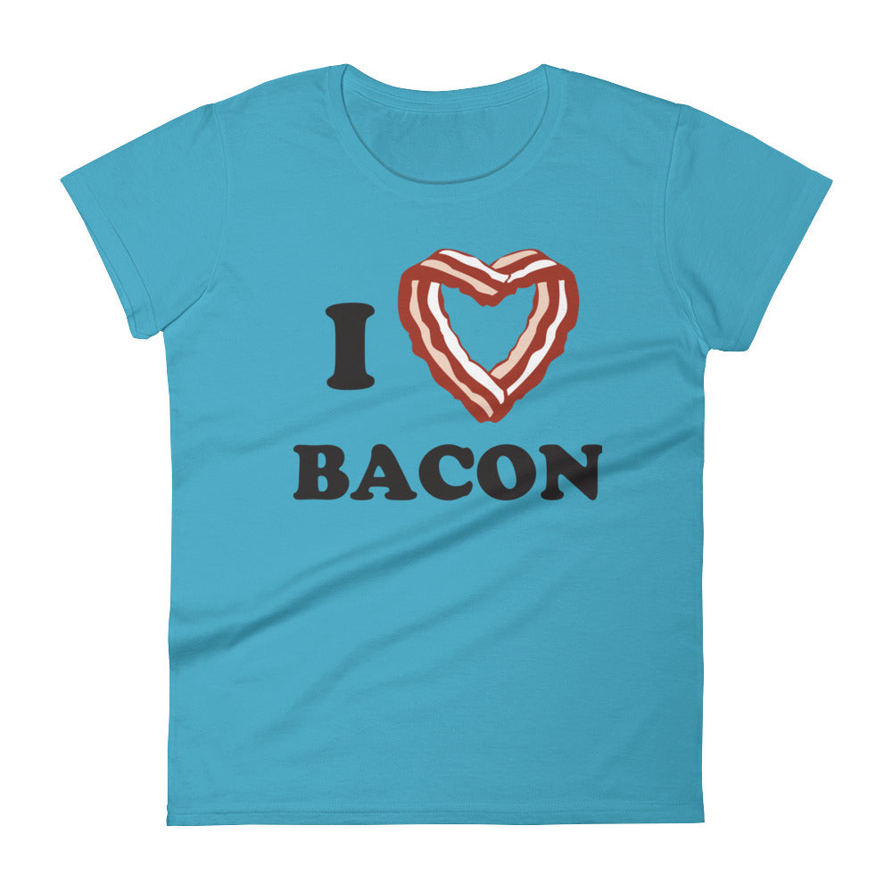 women's i heart bacon tee