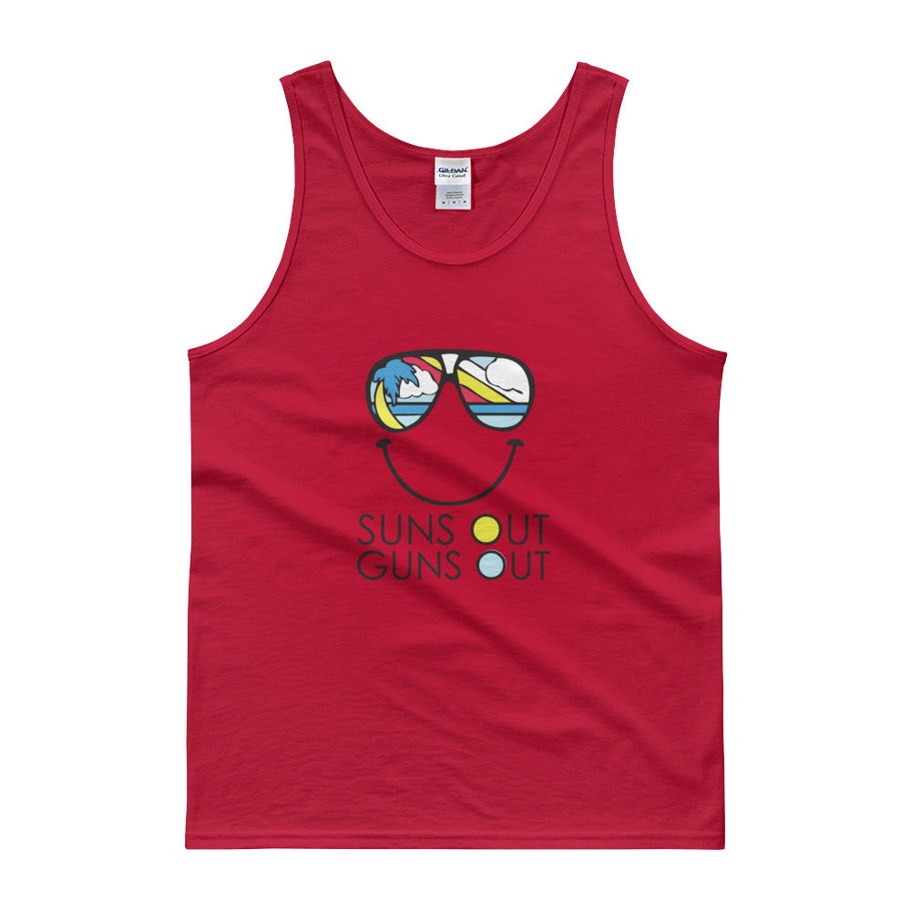 sunglasses suns out guns out tank