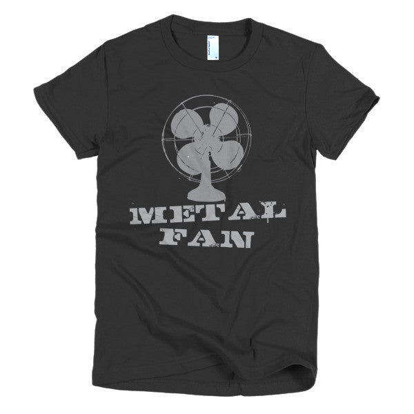 womens metal fan tee