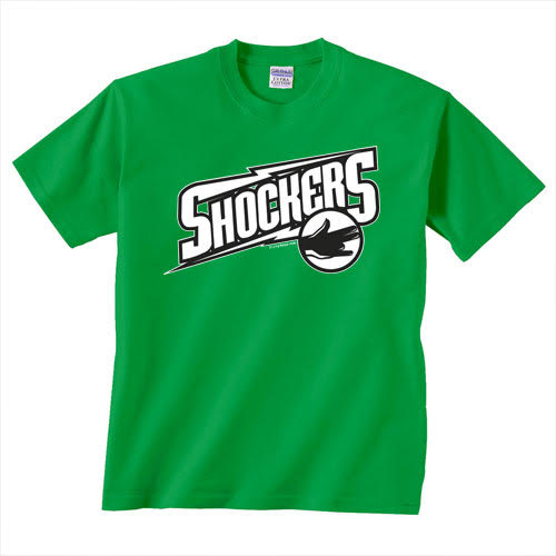 TEAM SHOCKER pimp the dirty shocker sex funny gift GREEN T-SHIRT