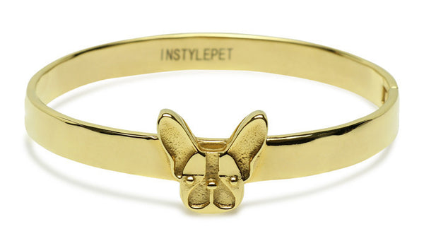 French Bulldog Bracelet (Gold)