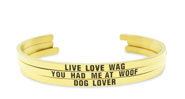Dog Lover Bracelet (Gold)