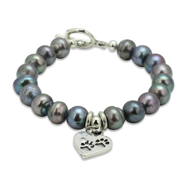 Black Pearl Dog Lover Bracelet