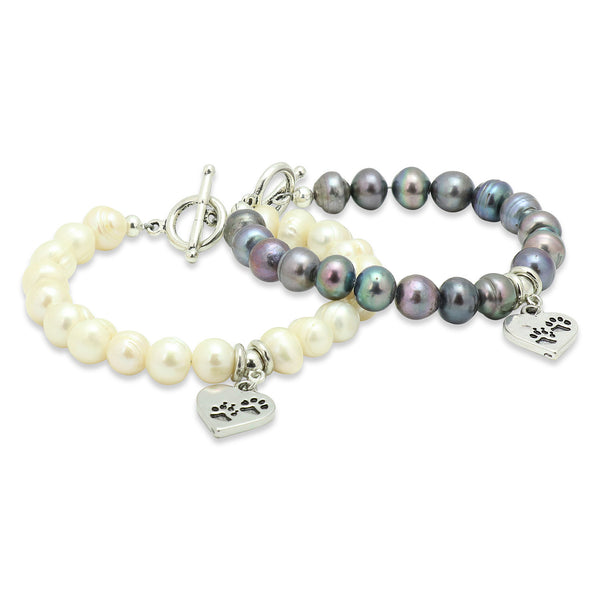 Pearl Dog Lover Bracelet Set