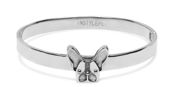 French Bulldog Bracelet (White Gold)