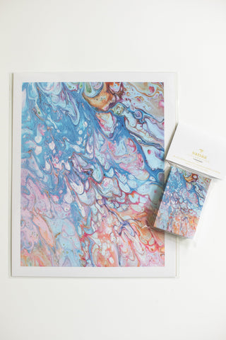 "Free SANAA MARBLE GIFT SET | 2"" X 3"" MINI CARDS & ENVELOPES + 8"" X 10"" ART PRINT"