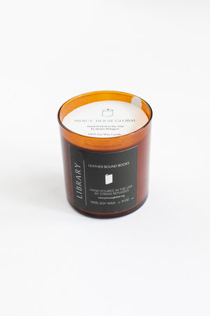 Library Candle | 9 oz. Amber Glass Jar Candle