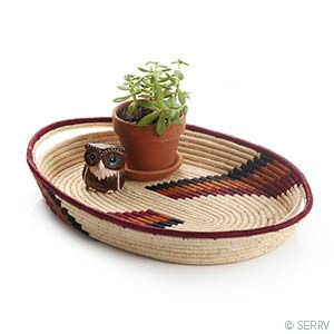 Natural Arch Tray Kitchen/Home Goods - Fair Trade - Mercy House Global