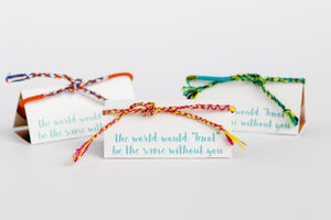 Fair Trade Friendship Bracelet + Card