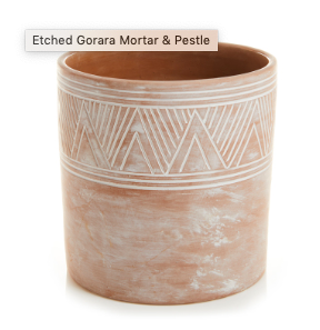 Etched Cylinder Planter | Large Garden/patio - Fair Trade - Mercy House Global