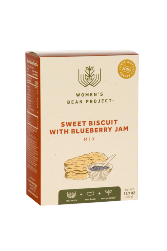 Sweet Biscuit with Blueberry Jam Mix