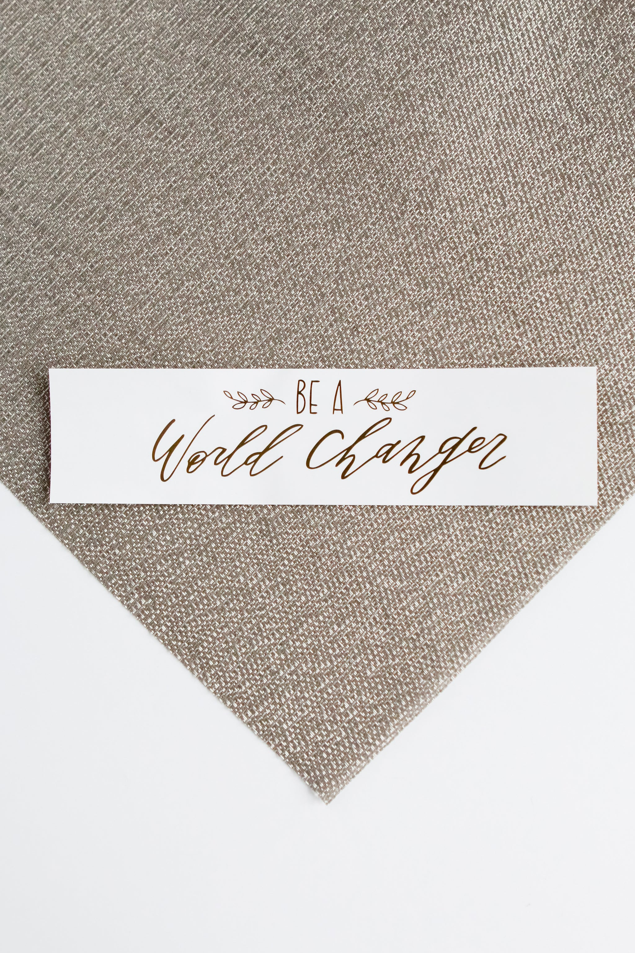 """World Changer"" Sticker sticker - Fair Trade - Mercy House Global"