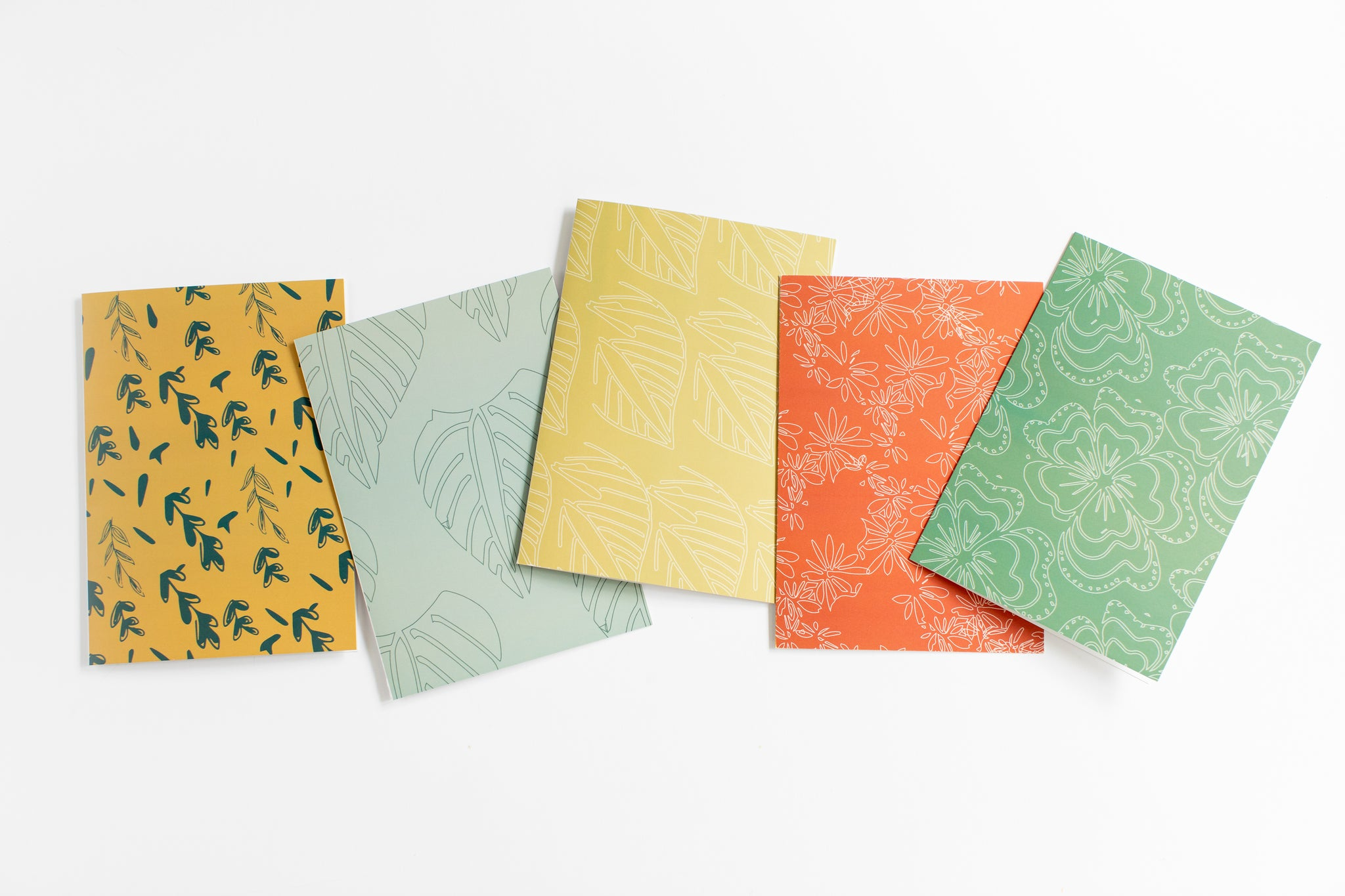 Sanaa Floral Greeting Cards | Variety Pack of 10 Blank Cards + Envelopes