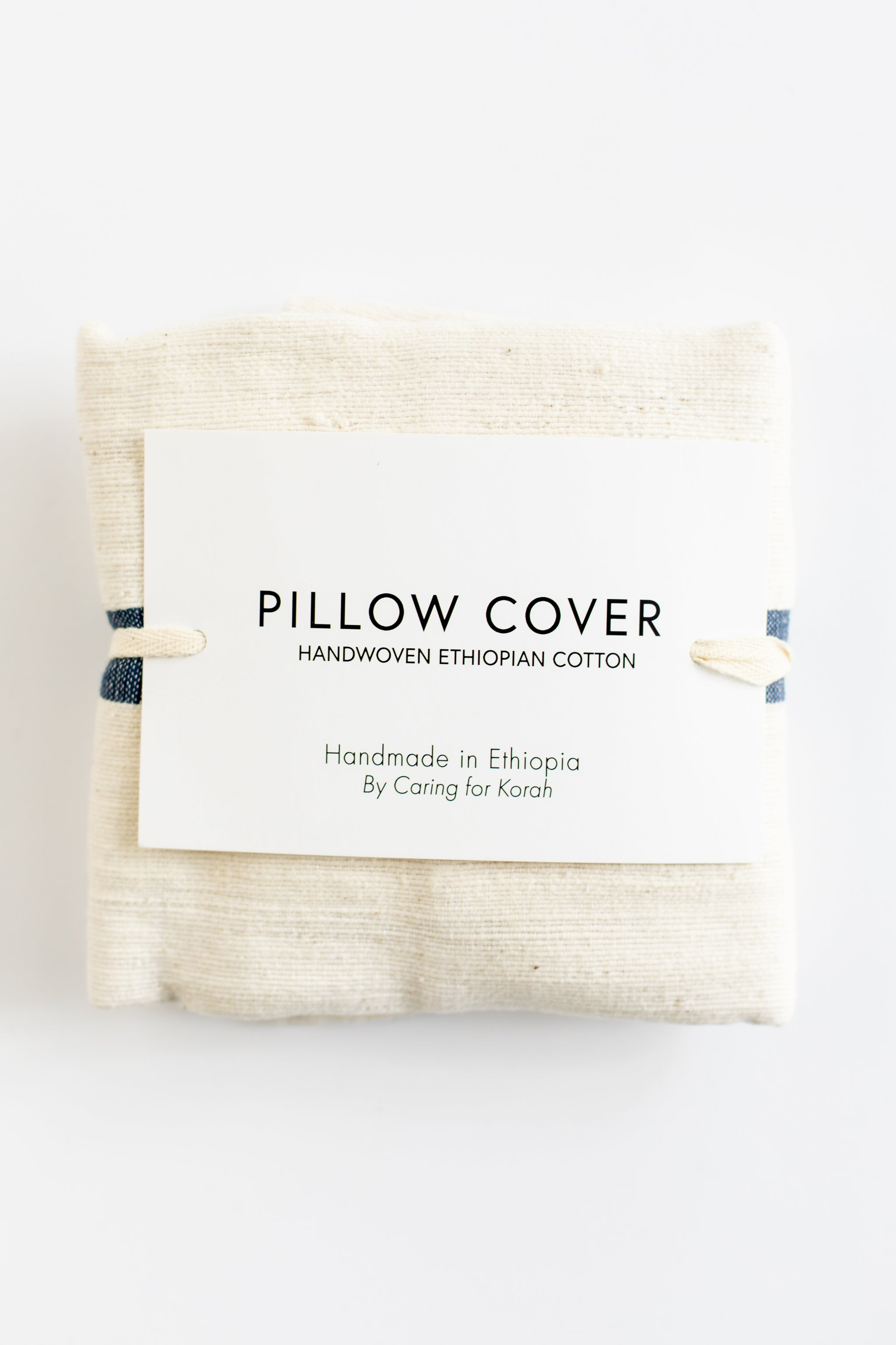 Navy + Cream Cotton Pillow Covers Pillow - Fair Trade - Mercy House Global