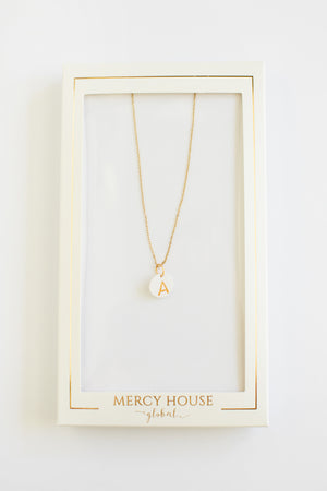 Clay Initial Charm Necklace Necklace - Fair Trade - Mercy House Global