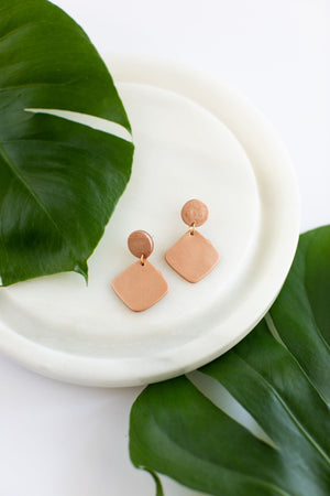 Blush Clay Stack Earrings