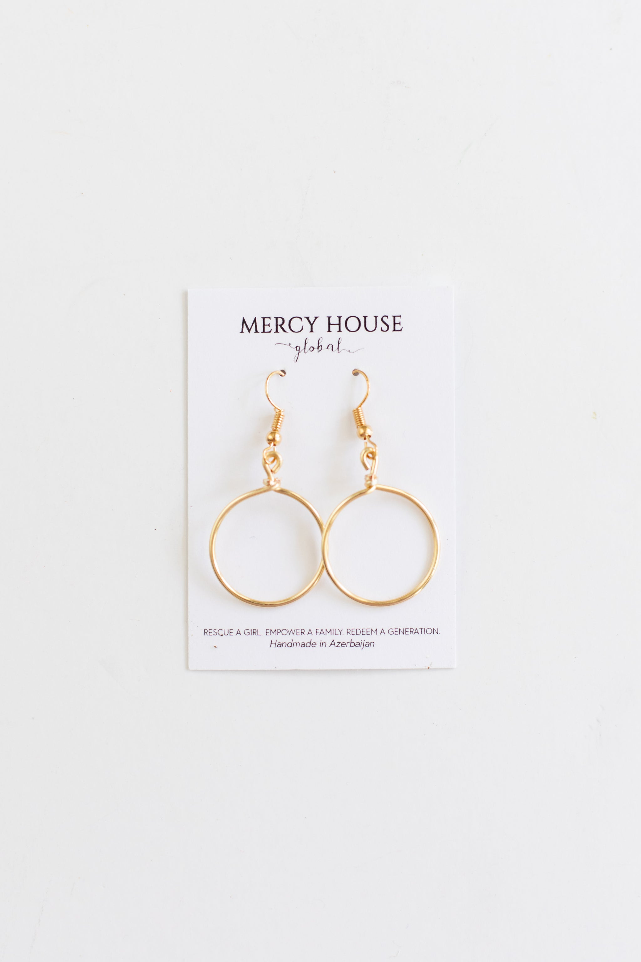Gold Circle Earrings Earring - Fair Trade - Mercy House Global