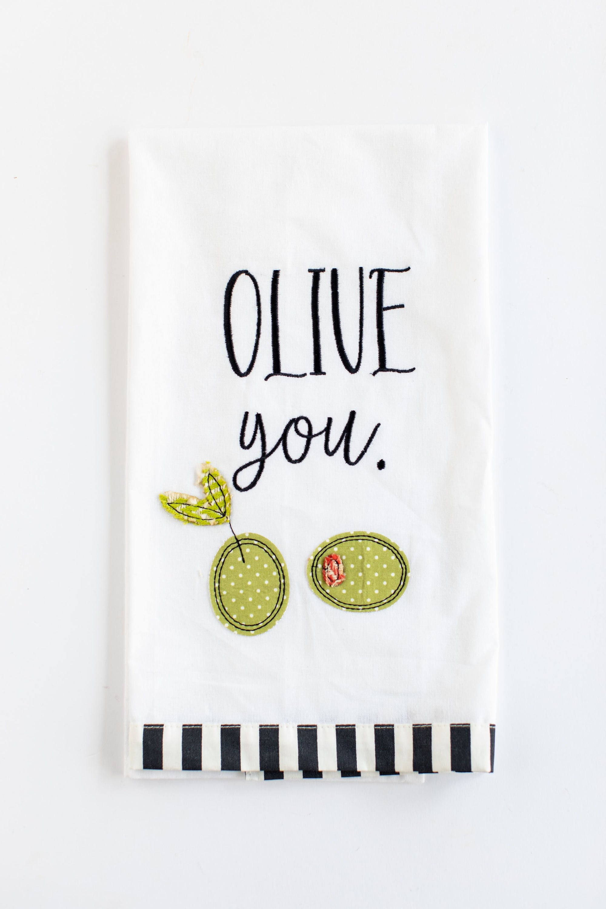 """Olive You"" Tea Towel"