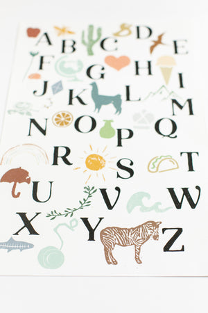 Alphabet Poster | Sanaa Collection