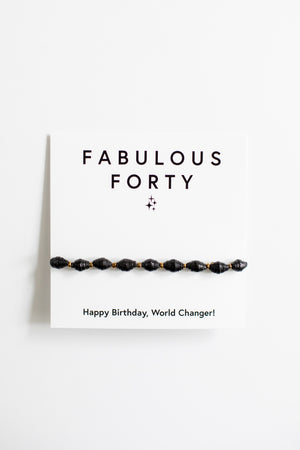 Milestone Birthday Bracelets bracelet - Fair Trade - Mercy House Global