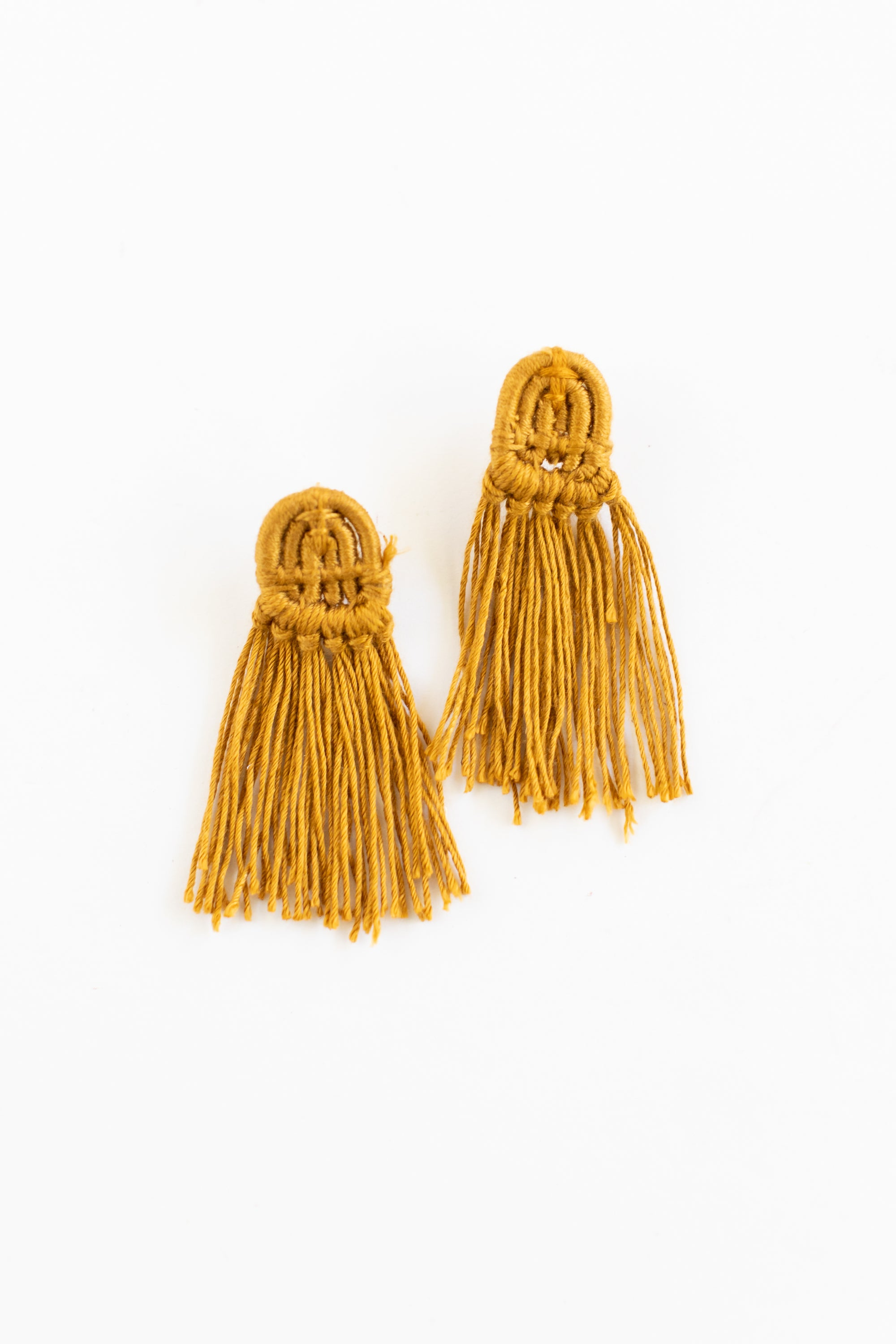 Mustard Tassel Earrings | Solo Hope