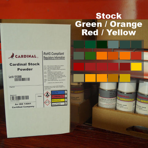 Cardinal Green/Orange/Red/Yellow