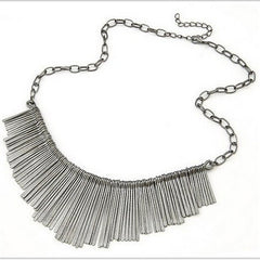 Vintage Jewelry Statement Tassel Necklace