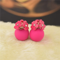 Personality Flower Double Stud Earring