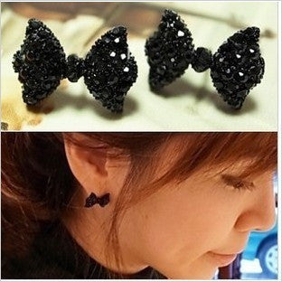 Crystal Bow Flowers Anchors Stud Earring