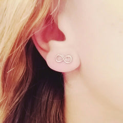 Lucky Number Down Eight Earring