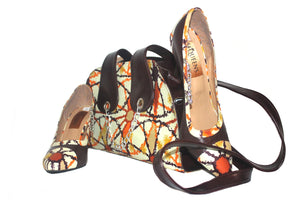 Lupita African Print handbag & Stiletto Shoes
