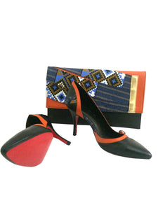 Mandisa Geometric Patterned Purse and Heels