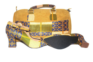 African Sun Goddess Duffel & T-Strap Shoes