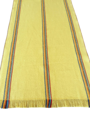 Mexican yellow jerga table runner - MesaChic - 1