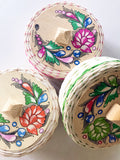 Mexican painted tortillero -assorted colors