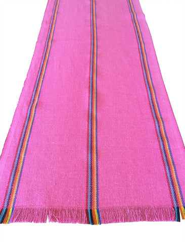 Mexican pink jerga table runner - MesaChic - 1