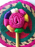 Mexican decorative fan -assorted colors