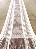 Bohemian heavy runner with fringes